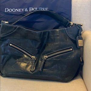 Well loved Dooney & Burke crocodile pattern purse.